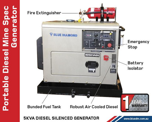 Mine Specification Diesel Generator 6KVA