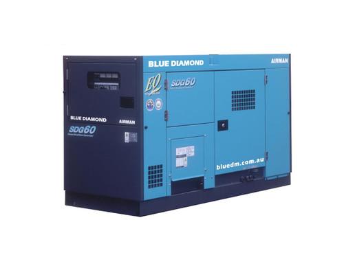 AIRMAN SDG60 50 KVA Diesel Generator, 3 Phase, 4 Wire