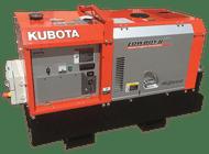 Kubota Generator Lowboy - Long Range Fuel Tank