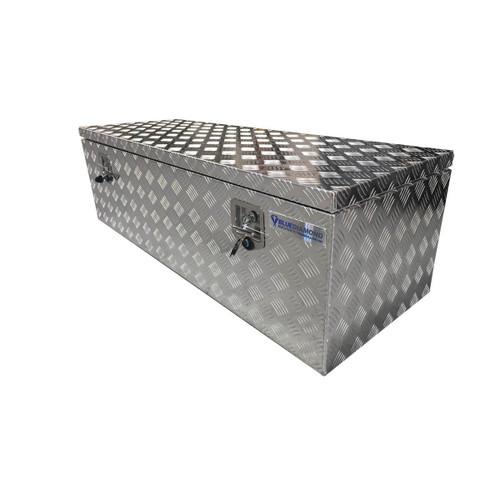 Flat Lid Aluminium Tool Box- Low Height- for Utes or Trucks