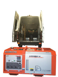 Kubota Generator for Mobile Food Van or Coffee Van Setup
