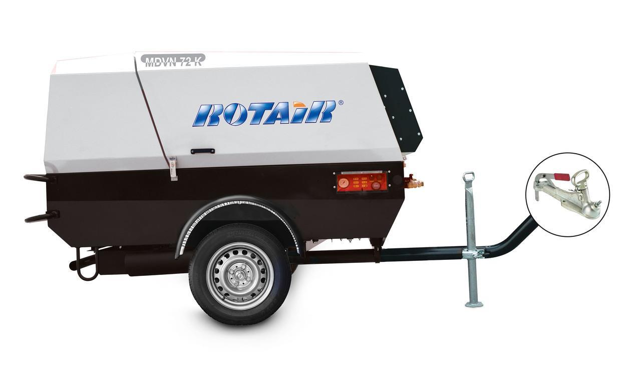 Rotair Portable Air Compressor 66hp 251 Cfm Blue Diamond