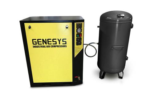 silenced piston air compressor