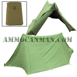 Two Half Shelter Tents with Poles Previously Issued