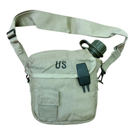Water Canteen Cover with 2Qt Canteen Desert Tan Like New