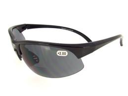 Black Half Frame Sunglass - Gray Bifocal Lenses