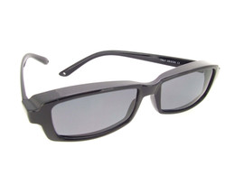 Smallest Sunglasses Over Glasses Polarized UV400 Black Frame - Gray Lenses