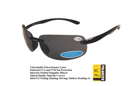 Polarized UV400 Bifocal Sunglasses with Gray Polarized Lenses