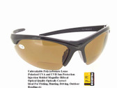Polarized Bifocal Sunglasses Black Half Frame Brown Lenses