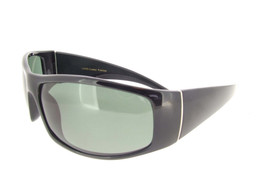 Wrap Around Sunglasses Black Frame - Gray Polarized Lenses