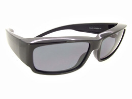 Over Glasses with Black Frame - Gray Polarized Lenses