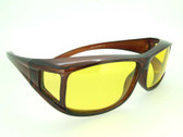 Yellow Lenses Brown Frame Sunglasses Over Glasses FO77Y
