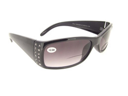 Bifocal Sunglasses with Rhinestones Gray Lenses
