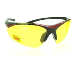 Black Red Half Frame - Yellow Polarized Lenses