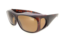 Sunglasses Over Glasses Polarized UV400 Tortoise Frame - Brown Lenses