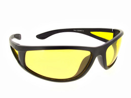 Sunglasses Yellow Lenses -  Black Frame