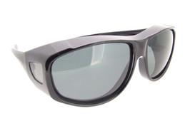 Large Sunglasses Over Glasses Polarized UV400 Black Frame - Gray Lenses