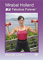 Specially Designed by Women's Fitness Expert Mirabai Holland MFA Her Moving Free® Technique provides a   movement experience so pleasant it doesn't feel like work. You can ease into shape, sustain it for a lifetime and be Fabulous Forever®. Intermediate Strength, Sculpt and Balance  Routine uses your own body weight, hand weights and optional ankle weights. Clickable sections make it easy to jump to the body parts you want to work on.