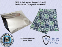 60 1 Gallon Bag and 60 300cc Oxygen Absorber Kit