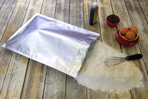 2 Gallon Ziplock Mylar Bag with Flour