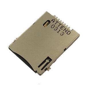 SIM Card Socket Push-Push Type 6+2 Pin