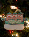 Triplets Snowmen Personalized Ornament