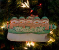 Grandkids Snowmen Personalized Ornament 5