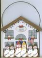 Snowman House with Flag 6