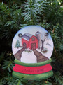 Farmer Snowglobe Personaized Christmas Ornament