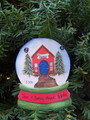 Veterinary Snowglobe Personaized Christmas Ornament