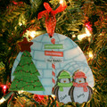 Penguin Ornament Family of 2