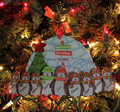 Penguin Ornament Family of 9