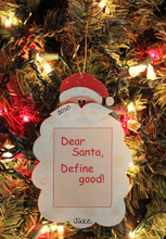 dear santa define good personalized christmas ornament - Define Christmas