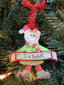 Football Elf Personalized Ornament