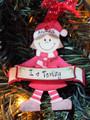 Merry Christmas Elf Red Girl