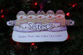 Sisters Five, We Share Our Lives Snowmen Personalized Ornament