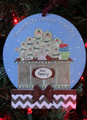 Gingerbread Family of 9 Making Cookies Personalized Christmas Ornament