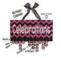 Chevron Celebrations Birthday Calendar