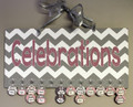 Chevron Pink and Gray Celebrations Calendar