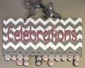 Chevron Pink and Gray Celebrations Calendar