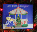 Gazebo Family of 2 Christmas Ornament