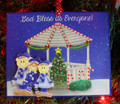 Gazebo Family of 3 Christmas Ornament
