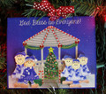 Gazebo Family of 5 Christmas Ornament