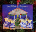 Gazebo Family of 7 Christmas Ornament