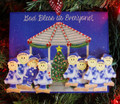 Gazebo Family of 9 Christmas Ornament