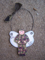 Military Green Angel Personalized Ornament