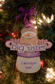 Big Sister Snowman Personalized Ornament