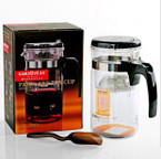 Tea Infuser - Kamjove TP-200 Patented Press Art - 1,000ml cap.