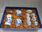 Tea Set - Ceramic, Magpie Forecasting Good News Design - Gaiwan, Pitcher, Tea Caddy, 6 Cups, Gift Box
