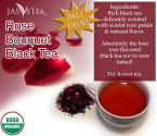 Rose Bouquet Black Tea – 100% Organic – 3.5oz